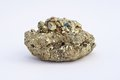 Gemstone pyrite from a huge mountain Royalty Free Stock Images
