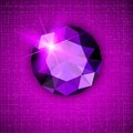 Gemstone round shaped on textured background for your design Stock Photography
