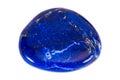Gemstone on white background, lapis lazuli Royalty Free Stock Photo