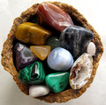 Gemstones, polished, assorted Royalty Free Stock Image