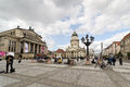 Gendarmenmarkt berlin germany september french cathedral and square on september in berlin germany the square was created by Stock Images