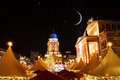 Gendarmenmarkt christmas market and starry sky in berlin Stock Photos
