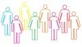 Gender diversity illustration Royalty Free Stock Photo