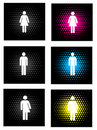 Gender icons Stock Photos