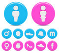 Gender icons Royalty Free Stock Photos