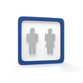 Gender male and female symbol in a frame Stock Images