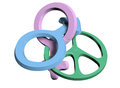 Gender peace sign intertwined Royalty Free Stock Photo