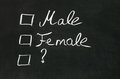 Gender s checkbox es with selection draw on blackboard Royalty Free Stock Photos