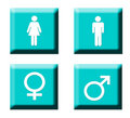 Gender symbol buttons Royalty Free Stock Photography