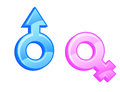 Gender symbols. Royalty Free Stock Photo
