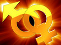 Gender symbols Royalty Free Stock Photography