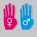 Gender symbols Royalty Free Stock Photo