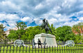General Andrew Jackson Statue on Lafayette Square in Washington, D.C. Royalty Free Stock Photo