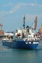 General cargo ship and port crane bridge odessa ukraine Stock Photography