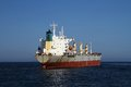 General cargo vessel in the anchorage of alicante bay Royalty Free Stock Image