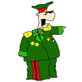General caricature of in uniform for the vector Stock Images