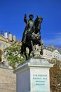 General dufour statue geneva switzerland erected in national hero place neuve Stock Photos