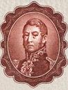 General Jose de San Martin portrait Royalty Free Stock Photo