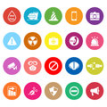 General useful flat icons on white background stock vector Royalty Free Stock Photos