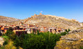 General view of albarracin in summer spain Stock Photos