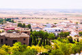 General view of belmonte with fields cuenca spain Royalty Free Stock Photo