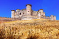 General view of castle in belmonte cuenca spain Stock Image