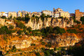 General view of cuenca town in sunny morning castilla la mancha spain Royalty Free Stock Photography