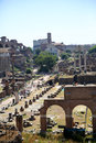 General view of roman forum rome italy Stock Images