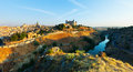 General view of toledo from hill in summer morning spain Royalty Free Stock Photography