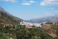 General view town surrounded mountains cortes de la frontera malaga province andalusia spain western europe Royalty Free Stock Photo