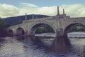 General wade s bridge in aberfeldy scotland crossing the river tay Stock Photo