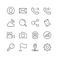 General Website and Mobile Icons - Vector illustration , Line icons set Royalty Free Stock Photo