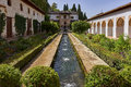 Generalife gardens near Alhambra complex Royalty Free Stock Photo