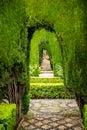 Generalife gardens Royalty Free Stock Photo