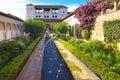 In Generalife Gardens. Royalty Free Stock Photo