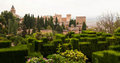 Generalife topiary inside the Alhambra palace Stock Photo