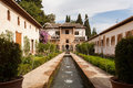 Generalife water feature of the Alhambra palace Royalty Free Stock Image