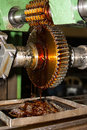 Generating gear lubrication of machine while Stock Photography