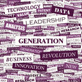 Generation word cloud concept illustration wordcloud collage Royalty Free Stock Photo