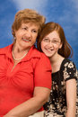 Generations - happy grandmother and granddaughter Royalty Free Stock Photos