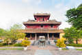 The generations temple in the citadel of hue imperial city are unesco world heritage sit Royalty Free Stock Images