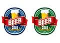 Generic beer label logo