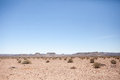 Generic desert scene with clear blue sky Royalty Free Stock Photo