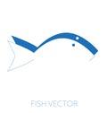 Generic fish minimal vector illustration