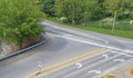 Generic intersection from a height seen with arrows and dividers Royalty Free Stock Image