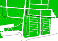 Generic map park green white Stock Photo