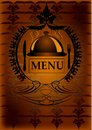 Generic restaurant menu add your own text Royalty Free Stock Photo