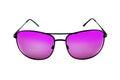 Generic Stylish male aviator sunglasses on white Royalty Free Stock Photo