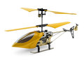 Generic yellow remote controlled helicopter on white background Stock Images