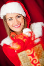 Generous female Santa Royalty Free Stock Photography